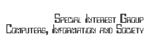 Logo text reading Special Interest Group Computers, Information and Society